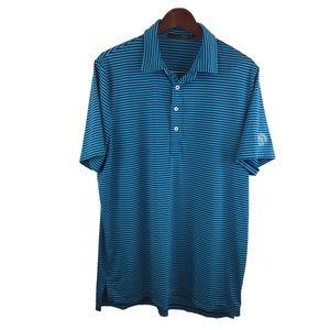 RLX Ralph Lauren Blue Stripe Polo Shirt Men Size L